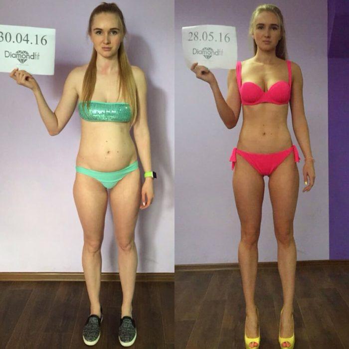 На сколько похудели при сушке тела