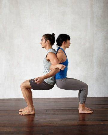 Yoga Poses for 2: Chair