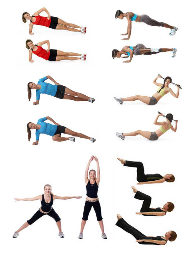Чтоб похудела талия упражнения